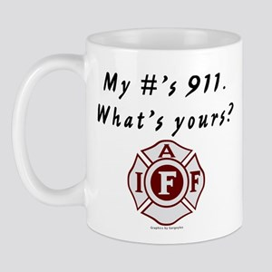 My #'s 911, what's yours (FD) Mug