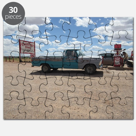Old Turquoise Truck Puzzle