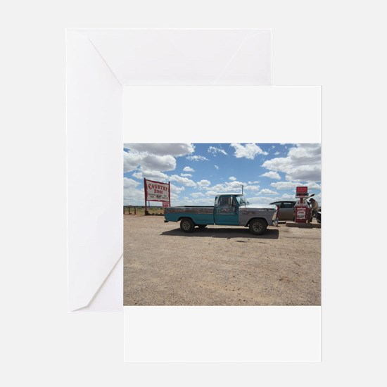 Old Turquoise Truck Greeting Cards