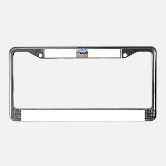 Old Turquoise Truck License Plate Frame