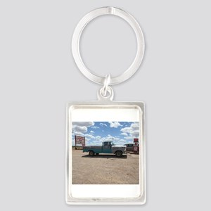 Old Turquoise Truck Keychains