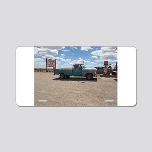 Old Turquoise Truck Aluminum License Plate