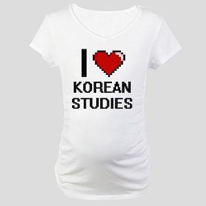 I Love Korean Studies Maternity T-Shirt