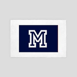 Your Team Monogram 4' x 6' Rug