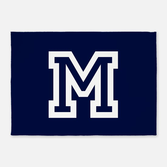 Your Team Monogram 5'x7'Area Rug