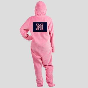 Your Team Monogram Footed Pajamas