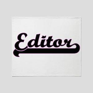 Editor Classic Job Design Throw Blanket