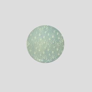 Teal Lace Mini Button