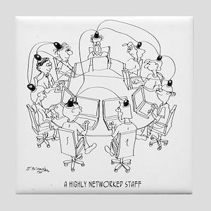 Computer Cartoon 9258 Tile Coaster
