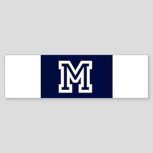 Your Team Monogram Bumper Sticker