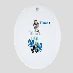 Imagine JESUS Flames Collect Oval Ornament