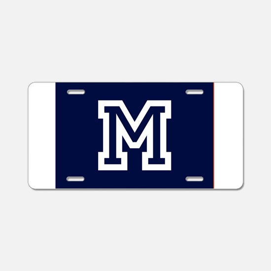 Your Team Monogram Aluminum License Plate