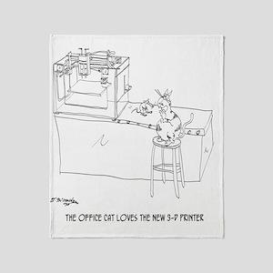 Cat Cartoon 9261 Throw Blanket