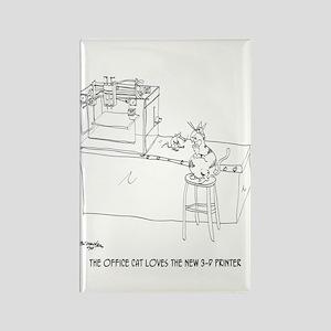 Cat Cartoon 9261 Rectangle Magnet