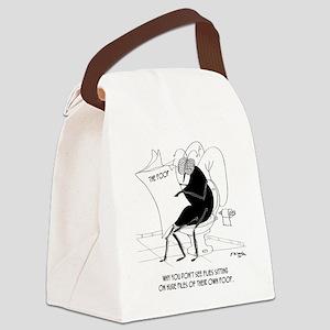 Toilet Cartoon 9263 Canvas Lunch Bag