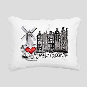 I love Amsterdam Rectangular Canvas Pillow