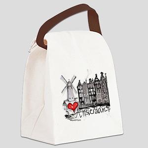 I love Amsterdam Canvas Lunch Bag