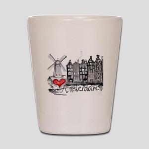 I love Amsterdam Shot Glass