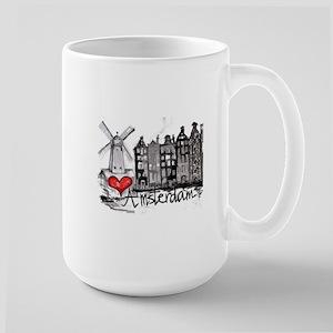 I love Amsterdam Large Mug