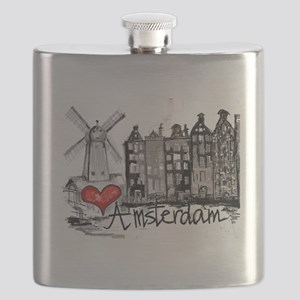 I love Amsterdam Flask