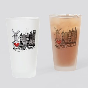 I love Amsterdam Drinking Glass