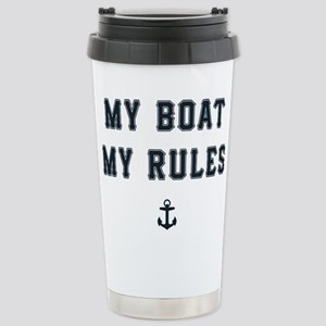 My Boat My Rules 16 oz Stainless Steel Travel Mug