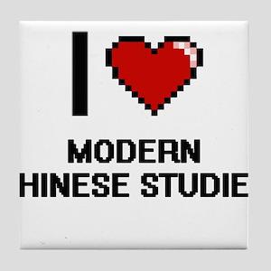 I Love Modern Chinese Studies Tile Coaster