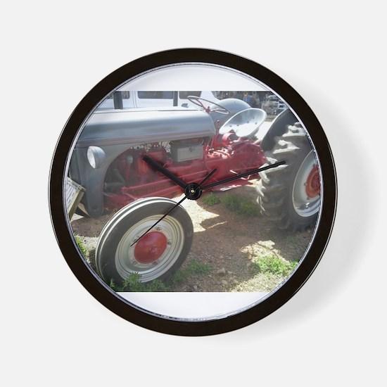 Old Grey Farm Tractor Wall Clock