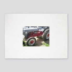 Old Grey Farm Tractor 5'x7'Area Rug