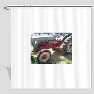 Old Grey Farm Tractor Shower Curtain