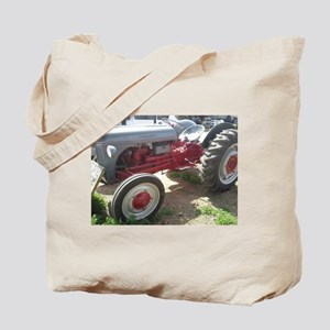 Old Grey Farm Tractor Tote Bag