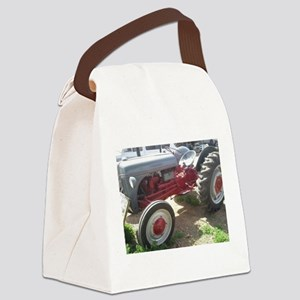 Old Grey Farm Tractor Canvas Lunch Bag
