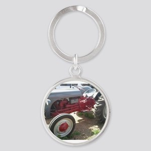 Old Grey Farm Tractor Keychains
