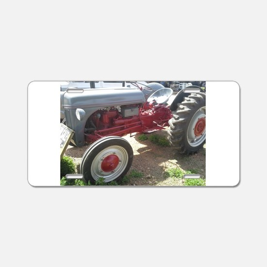 Old Grey Farm Tractor Aluminum License Plate