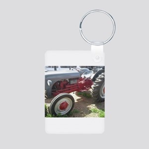 Old Grey Farm Tractor Keychains