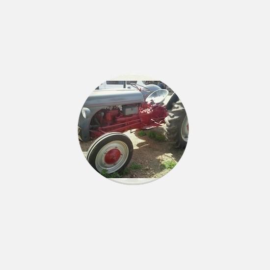 Old Grey Farm Tractor Mini Button