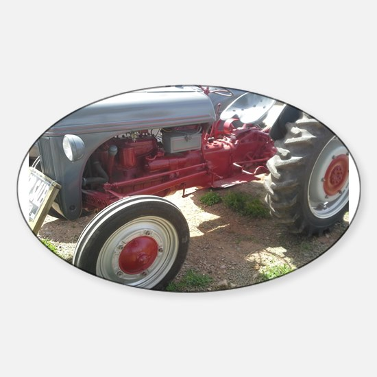 Old Grey Farm Tractor Decal