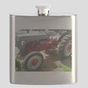 Old Grey Farm Tractor Flask