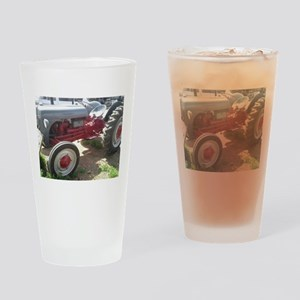 Old Grey Farm Tractor Drinking Glass