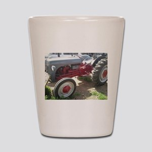 Old Grey Farm Tractor Shot Glass