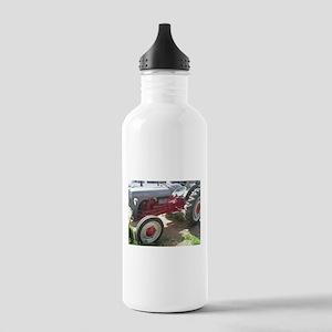 Old Grey Farm Tractor Water Bottle