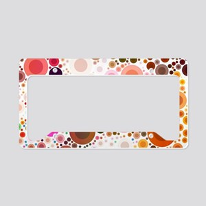 mod circles pattern License Plate Holder