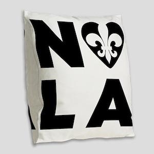 NOLA Burlap Throw Pillow