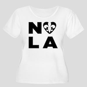 NOLA Women's Plus Size Scoop Neck T-Shirt