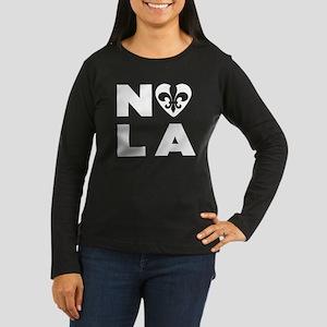 NOLA Women's Long Sleeve Dark T-Shirt