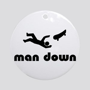 skater down Ornament (Round)