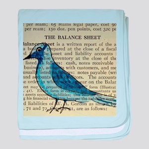 boho bird baby blanket