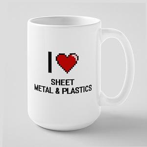 I Love Sheet Metal & Plastics Mugs