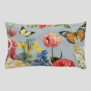 Modern Vintage botanical flowers Pillow Case