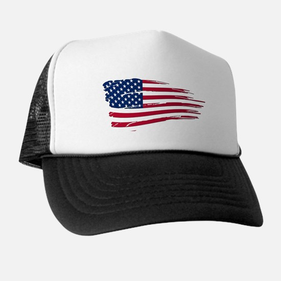 Tattered US Flag Trucker Hat